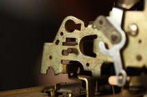metal components of a door latch
