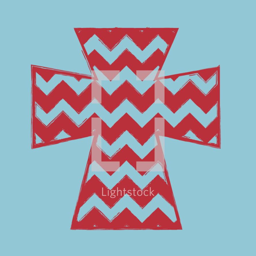 cross with chevron pattern