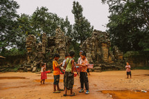 Children playing in Cambodia.