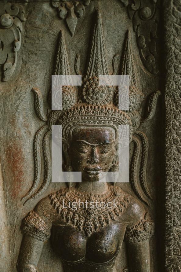 Hindu engraving in Cambodia
