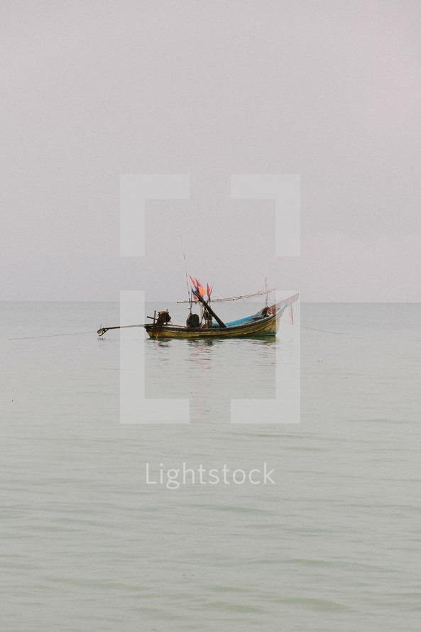 A boat on the water in Thailand