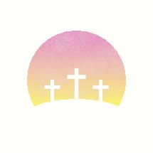 three crosses Easter icon