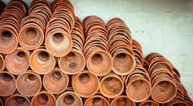 pile of terra-cotta pots
