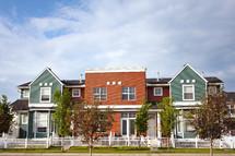 modern urban row houses