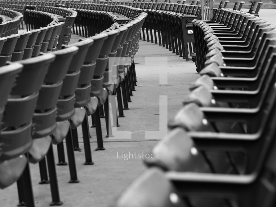 empty seats at a ball park