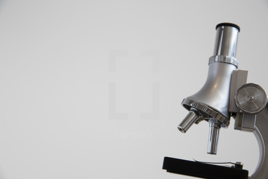 microscope against a white background