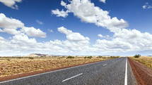 road through desert in Australia