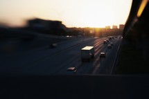 cars passing by on the highway
