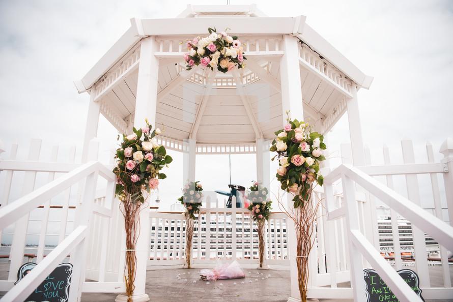 wedding under a gazebo
