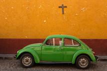 green Volkswagen Beetle