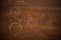 water rings on wood