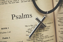 Psalms and a cross necklace