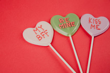 Valentines lollipops