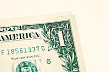 A one dollar bill