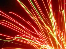 streaks of fireworks