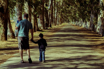 father and son's walking