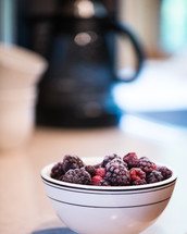 a bowl of frozen berries