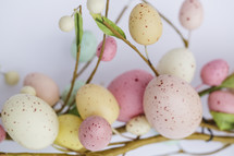 Easter wreath with Easter eggs