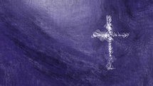 cross in motion on purple