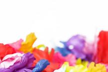 colorful luau flowers