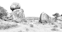 rocks in the Outback