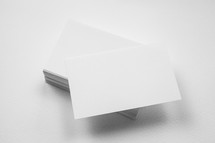 stacked index cards
