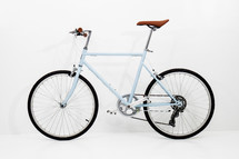 bicycle against a white background