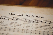 Our God, He Is Alive sheet music