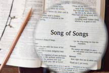 magnifying glass over Song of Solomon