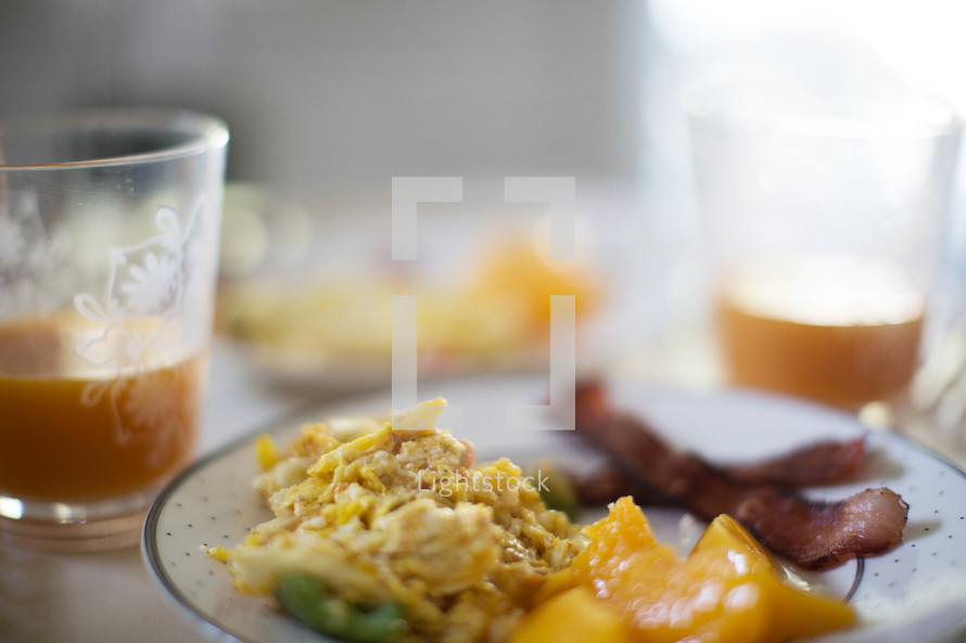 breakfast and juice.