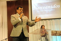 a minister giving a sermon