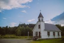 a small rural white church