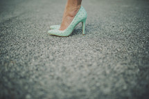 woman in high heel shoes