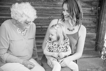 great-grandmother, granddaughter, and great-granddaughter