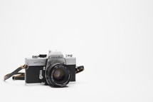 vintage camera on a white background
