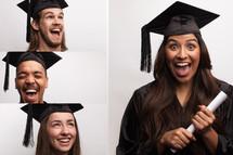 excited graduates