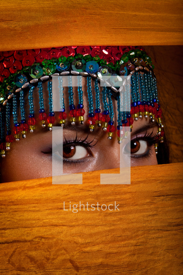 eyes of a belly dancer