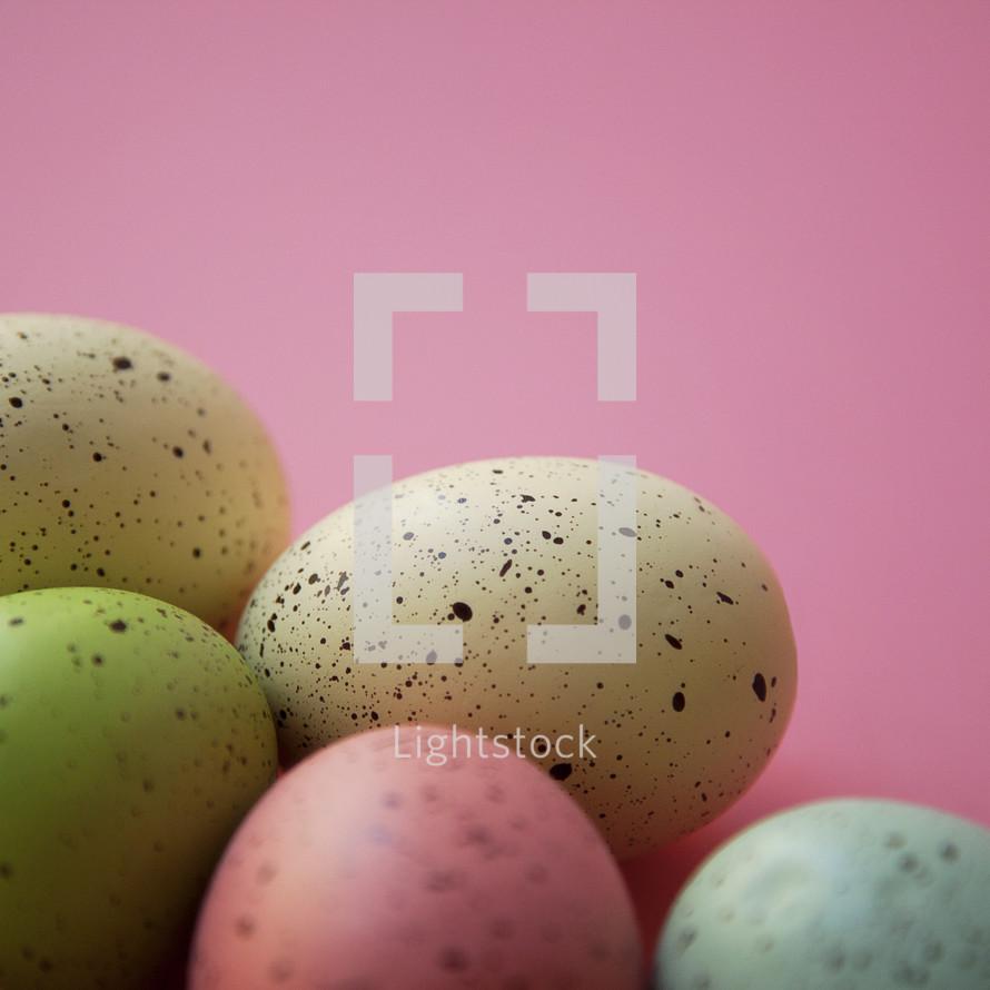 speckled Easter eggs