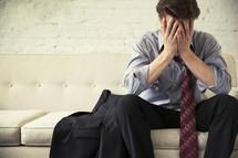 a stressed businessman.