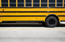 side of a school bus