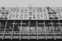 fire escape on city buildings