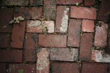 Brick pathway.