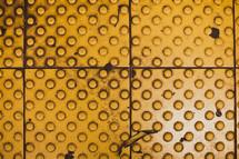 A yellow circular texture