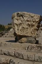 Ornate capital at Beth-Shean