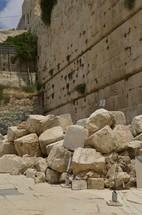 Roman destruction preserved outside the walls of Jerusalem