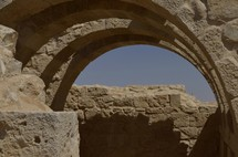 Excavated arches at Avdat