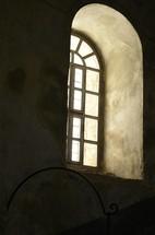 Window of a Byzantine church in Bethlehem