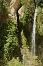 Waterfall at En Gedi, place of refreshing and restoration for David on the run from Saul