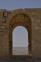 Excavated arched doorways of Avdat