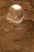 Limestone formation in the Bell Caves of Maresha